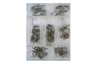 Surecatch 140 Piece Assorted Suicide Fishing Hook Pack in Tackle Box