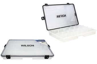 Large Wilson Waterproof Fishing Tackle Tray with Rubber Seal and Locking Clasps