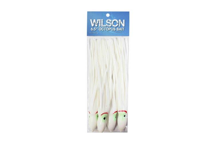 """Wilson 6.5"""" Vinyl Octopus Squid Tail - Pearl"""