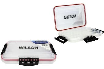 Small Wilson Deluxe Waterproof Fishing Tackle Tray - Worm Proof Tackle Box