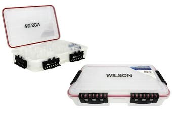 Large Wilson Deluxe Deep Waterproof Fishing Tackle Tray with 24 Compartments
