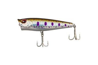 68mm FishArt Dynamite Mutant Mullet Popping Fishing Lure - 7gm Topwater Popper Lure