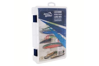 Jarvis Walker Large LB3000 Worm Proof Lure Tackle Box Adjustable Compartments