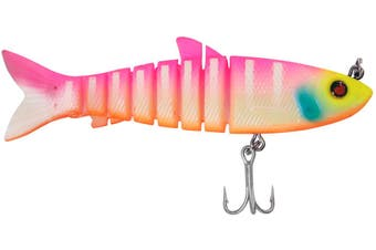 """Zerek Live Mullet 4.5"""" Col FAB 23g Soft Body Jointed Swimbait Fishing Lure"""