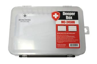 Moncross MC-245DB Large Deeper Fishing Tackle Tray with 6 Compartments