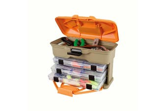 Flambeau T3 Multiloader Mini Tackle Box With 3 Tackle Trays - Made In U.S.A