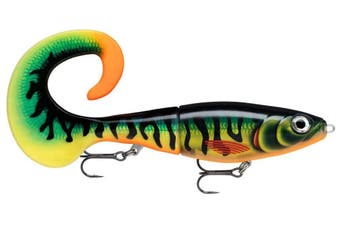 10 Inch Rapala X-Rap Otus Hybrid Fishing Lure With Spare Soft Tail - Hot Tiger Pike