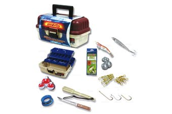 Surecatch 201 Piece Mega Fishing Pack - 3 Tray Tackle Box - Assorted Tackle Kit