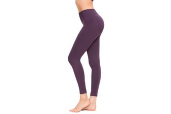 SEMATH Women Sports Gym Yoga Pants Leggings Plus Size Purple