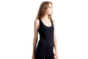 SEMATH Women Sports Gym Yoga Tops Vest Black
