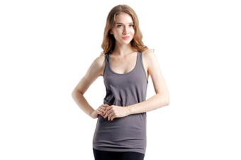 SEMATH Women Sports Gym Yoga Tops Bra Grey