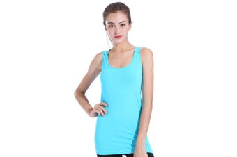 SEMATH Women Sports Gym Yoga Tops Bra Light Blue