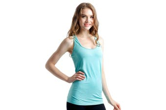 SEMATH Women Sports Gym Yoga Tops Bra Light Green