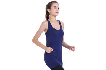 SEMATH Women Sports Gym Yoga Tops Bra Navy