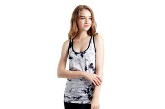 SEMATH Women Sports Gym Yoga Tops Bra Tie-dye Black