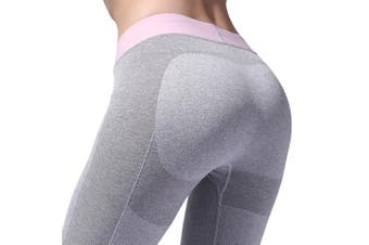 SEMATH Women Sports Running Fitness Gym Yoga legging Light Grey