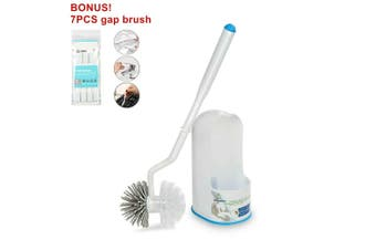 BOOMJOY Toilet Brush Bathroom Cleaning TPR Rubber Dual Head Built-in Tweezer