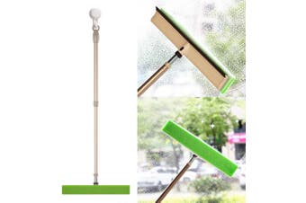 BOOMJOY Long Handle Window Cleaner TPR Rubber Wiper With Curtain Duster Head