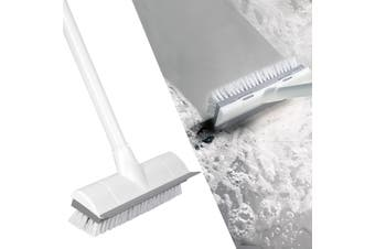BOOMJOY Floor Scrub Brush with Long Handle Adjustable Stainless Metal Handle, Scrubber with Stiff Bristles for Cleaning Tile, Bathroom, Tub, Bath