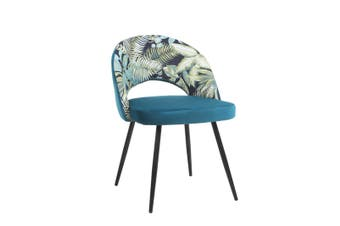 2pcs BELLEMOSA Relax Dining Chair With Powder Coated Metal Frame Velvet Cover - Green