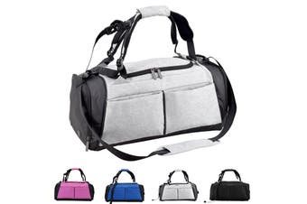 Gym Duffel Bag with Shoe Compartment Waterproof Sports Travel 40L Bag GREY