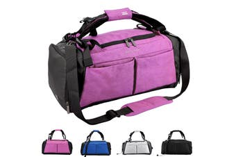 Gym Duffel Bag with Shoe Compartment Waterproof Sports Travel 40L Bag PINK