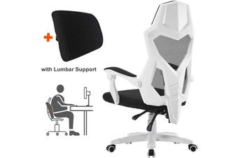 BELLEMOSA Ergonomic Office Chair High Back Adjustable Mesh Recliner White