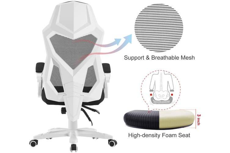 BELLEMOSA Ergonomic Office Chair High Back Adjustable Mesh Recliner White
