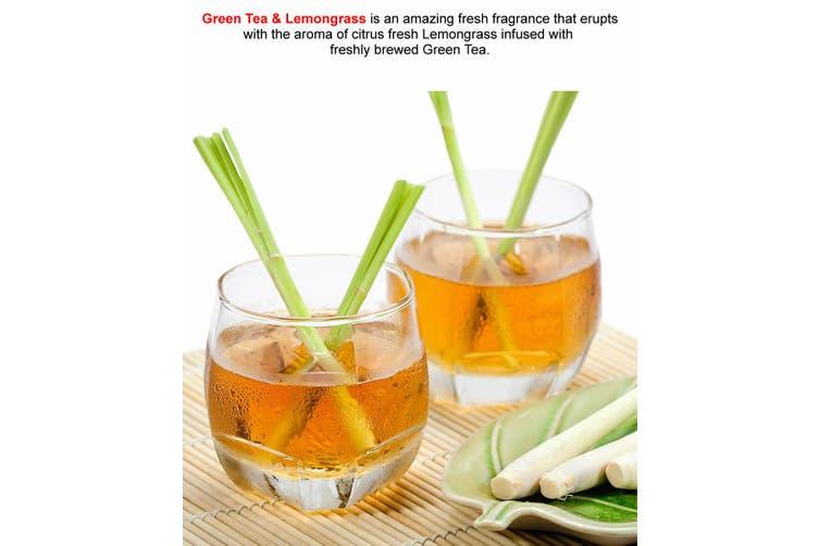 GREEN TEA & LEMONGRASS Diffuser Fragrance Oil Refill BONUS Free Reeds
