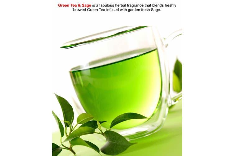 GREEN TEA & SAGE Diffuser Fragrance Oil Refill BONUS Free Reeds