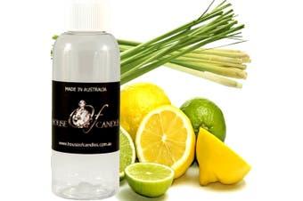 LEMONGRASS & PERSIAN LIMES Diffuser Fragrance Oil Refill BONUS Free Reeds