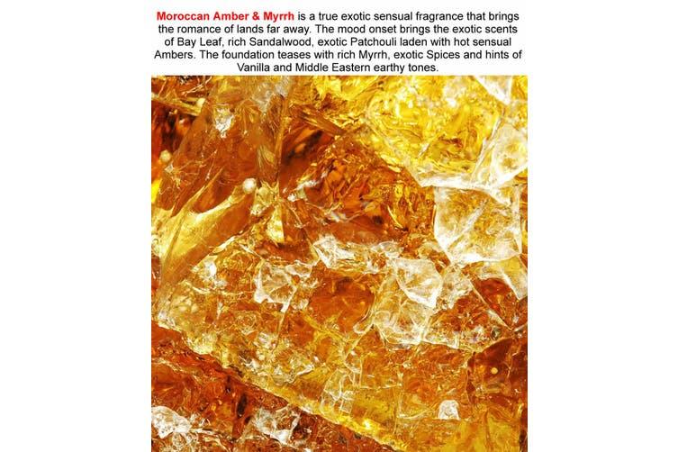MOROCCAN AMBER & MYRRH Diffuser Fragrance Oil Refill BONUS Free Reeds