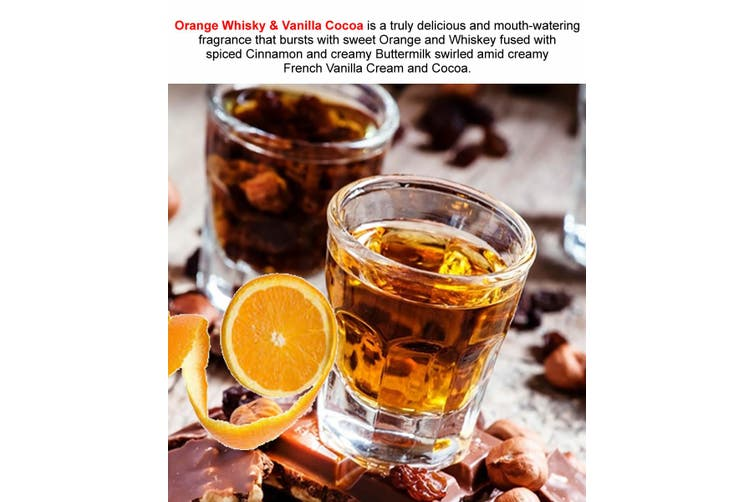ORANGE WHISKY & VANILLA COCOA Diffuser Fragrance Oil Refill BONUS Free Reeds