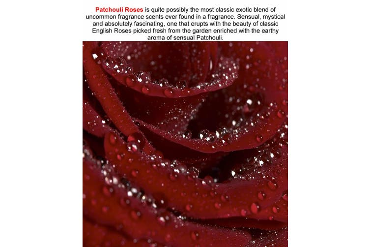 PATCHOULI ROSES Diffuser Fragrance Oil Refill BONUS Free Reeds