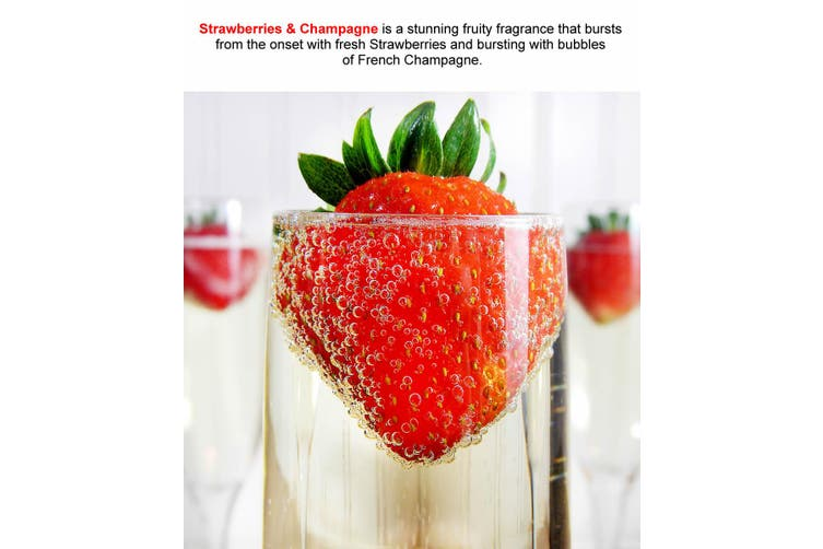 STRAWBERRIES & CHAMPAGNE Diffuser Fragrance Oil Refill BONUS Free Reeds