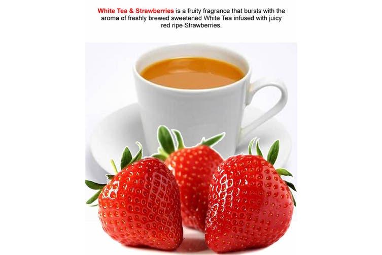 WHITE TEA & STRAWBERRIES Scented Diffuser Fragrance Oil Refill BONUS Free Reeds