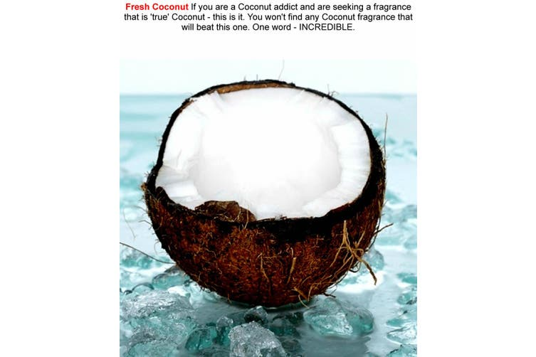 FRESH COCONUT Diffuser Fragrance Oil Refill BONUS Free Reeds
