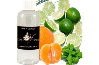 LIME BASIL & MANDARIN Diffuser Fragrance Oil Refill BONUS Free Reeds