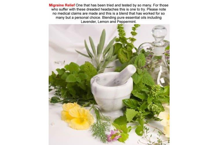 MIGRAINE RELIEF Diffuser Fragrance Oil Refill BONUS Free Reeds