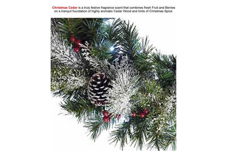 CHRISTMAS CEDAR Diffuser Fragrance Oil Refill BONUS Free Reeds