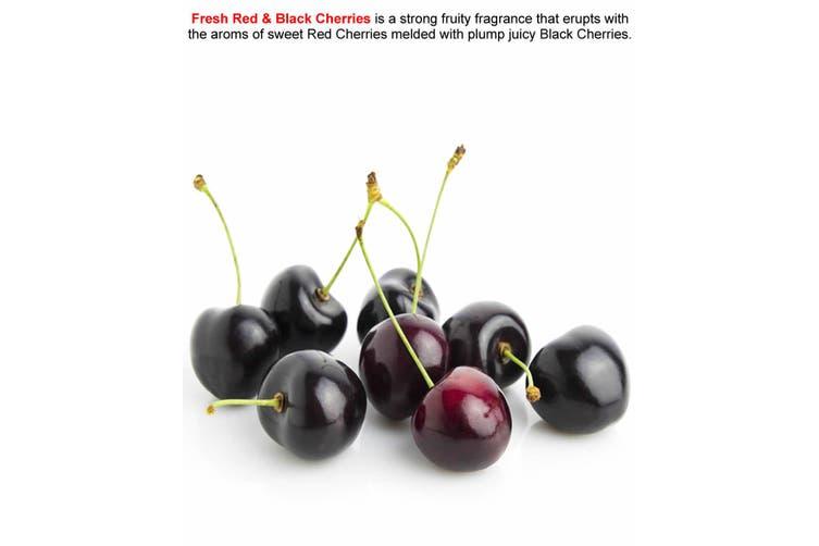 FRESH RED & BLACK CHERRIES Diffuser Fragrance Oil Refill BONUS Free Reeds