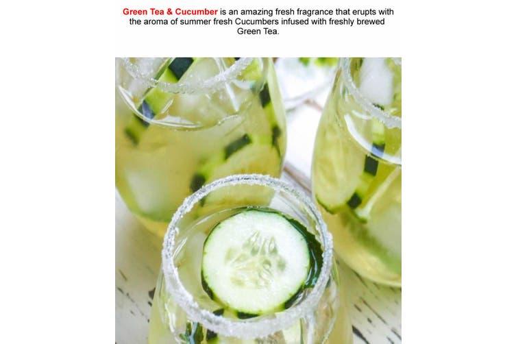 GREEN TEA & CUCUMBER Diffuser Fragrance Oil Refill BONUS Free Reeds