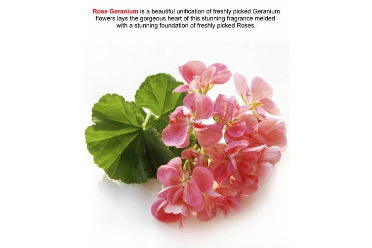 ROSE GERANIUM Diffuser Fragrance Oil Refill BONUS Free Reeds