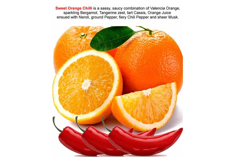 SWEET ORANGE CHILLI Diffuser Fragrance Oil Refill BONUS Free Reeds