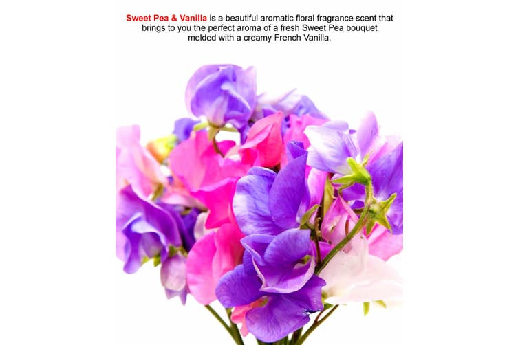 SWEET PEA & VANILLA Diffuser Fragrance Oil Refill BONUS Free Reeds