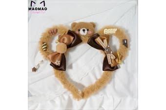 Handmade Sweet Lolita Plush Teddy Bear Ears Headband DDLG Cosplay EY2 PV2