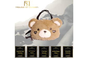Lolita Kawaii Soft Plush Bear Shoulder Bag Plush Toy Handbag DDLG Littles ST101 PV2 - Standard
