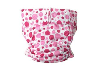 Pink Bubbles Adult Diaper