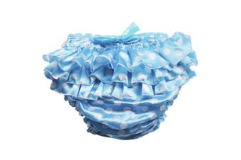 Blue Polkadot Diaper Cover