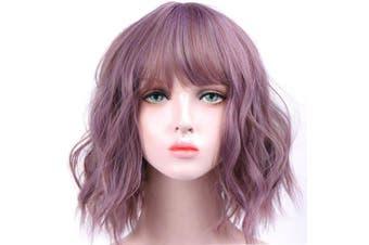 Short Wavy Pastel Wig